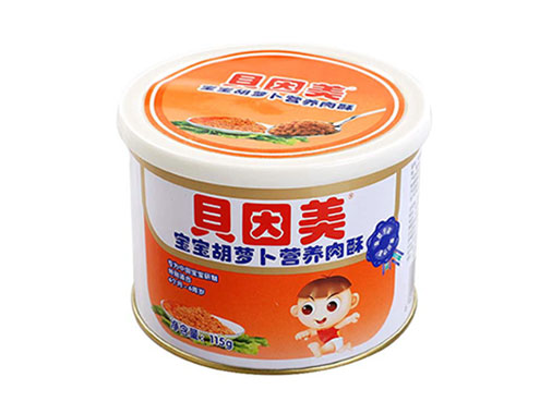 贝因美宝宝胡萝卜营养肉酥