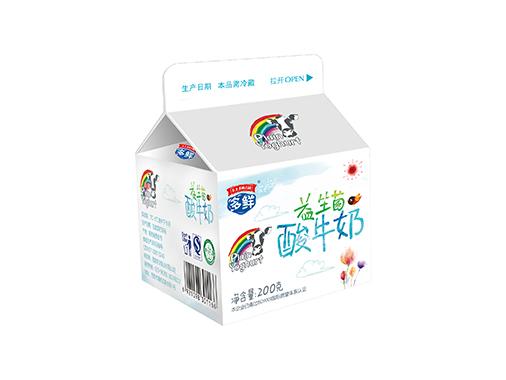 多鲜 益生菌酸牛奶-多鲜屋顶包系列
