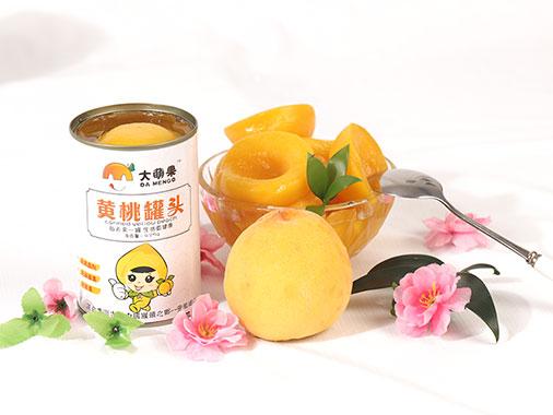 大萌果黄桃罐头