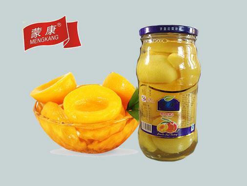 蒙康1kg糖水桃罐头
