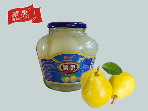 蒙康1.25kg梨罐头