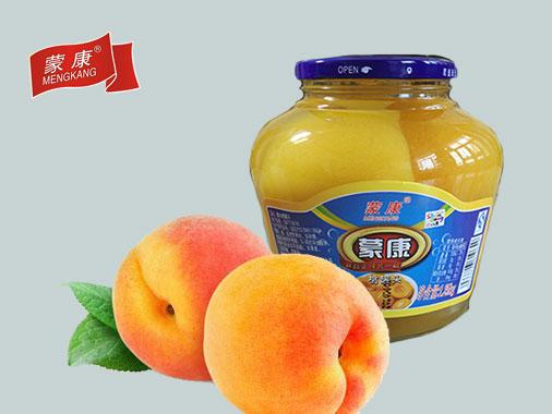 蒙康1.25kg桃罐头