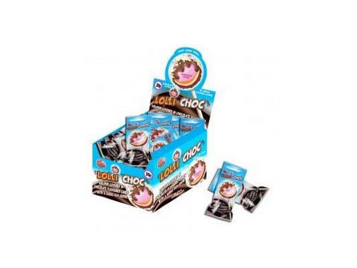 彩乐巧克力大彩蛋棒棒糖(蓝)