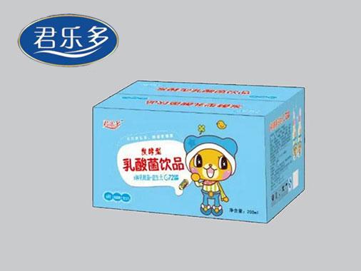 君乐多发酵型乳酸菌饮品200ml蓝色箱装