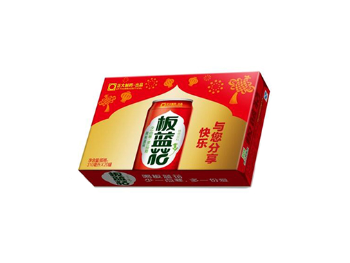 正大20罐板蓝花植物饮料(喜庆装礼盒)