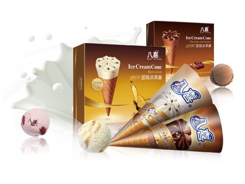 八喜圆筒冰淇淋