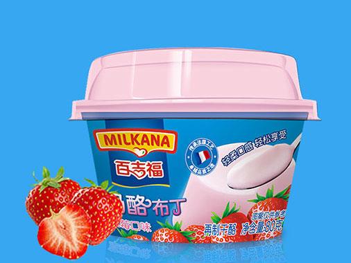 百吉福奶酪布丁草莓味