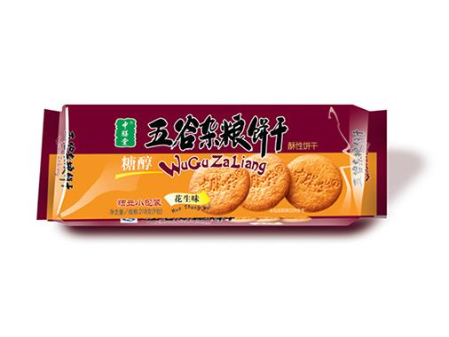 中膳堂糖醇五谷杂粮饼干花生味