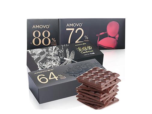 amovo魔吻72%无糖高纯黑巧克力大礼包