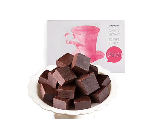amovo魔吻纯可可脂手工松露型生巧克力