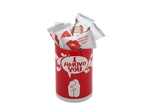 amovo魔吻纯可可脂松露生巧克力铁罐