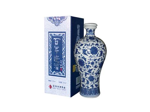 百年皖酒青花瓷