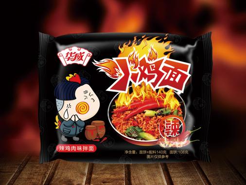 华威辣鸡肉味拌面