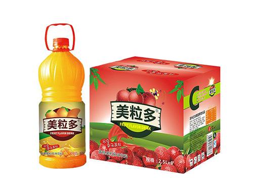 美粒多黃桃果粒風味飲料