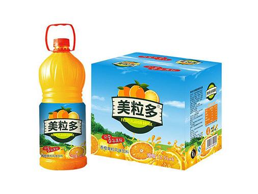 美粒多香橙果粒風味飲料
